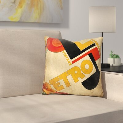 Vintage Retro Movement Throw Pillow