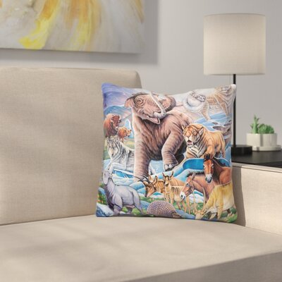 Ice Age Color Throw Pillow