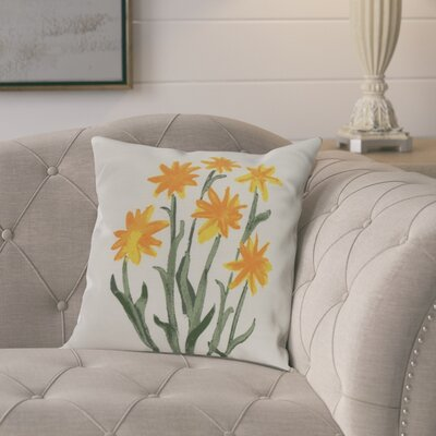 Laymon Decorative Throw Pillow Color: Yellow, Size: 18 x 18