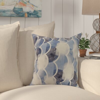 Harriet Throw Pillow Color: Blue, Size: 26 x 26
