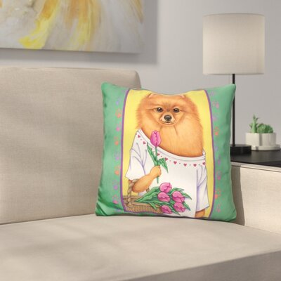 Pom Basket Throw Pillow