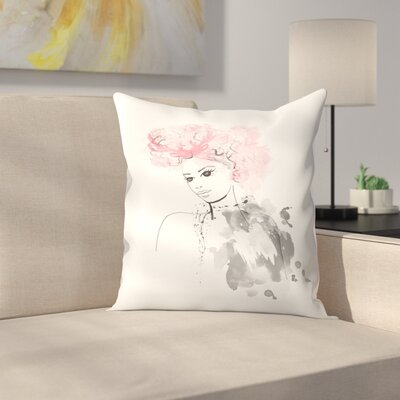 Garland Throw Pillow Size: 18 x 18