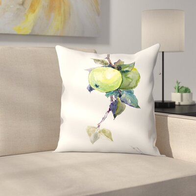 Apples 1 Throw Pillow Size: 16 x 16