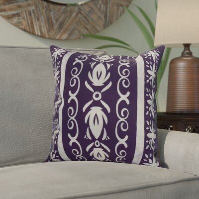 Casto Tile Throw Pillow Color: Navy Blue, Size: 26 x 26