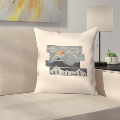 Into The Gray Morning Throw Pillow Size: 18 x 18, Color: Biege