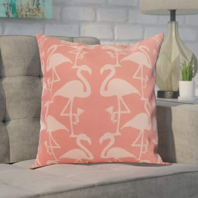Carmack Flamingo Throw Pillow Color: Orange, Size: 16 x 16