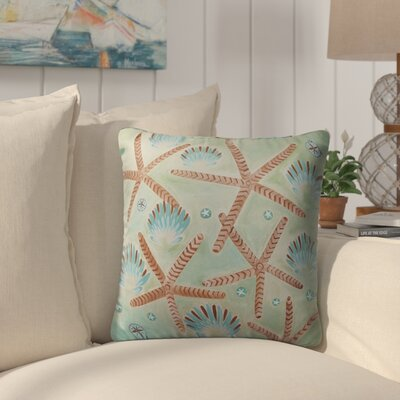 Burkeville Sand Shells Indoor/Outdoor Throw Pillow Size: 26 H x 26 W
