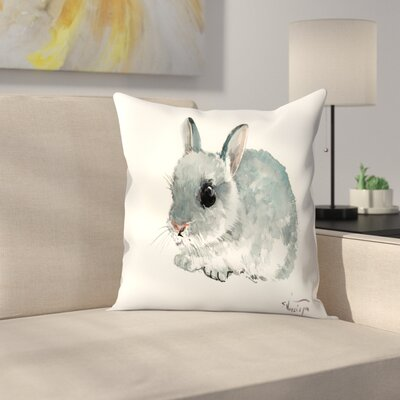 Bunny 5 Throw Pillow Size: 16 x 16