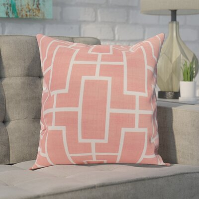 Carmack Throw Pillow Color: Coral, Size: 18 x 18