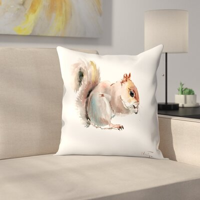 Squirrell 1 Throw Pillow Size: 14 x 14