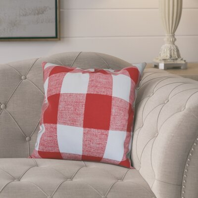 Lowman Plaid Pillow Cover Color: Red
