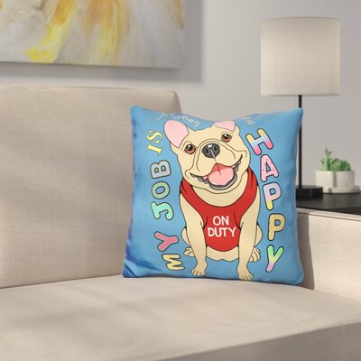 French Bulldog Graphic Style Throw Pillow