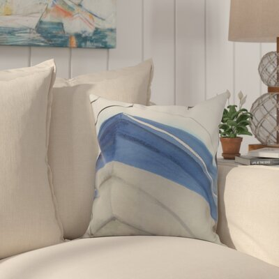 Harriet Boat Throw Pillow Color: Taupe, Size: 18 x 18
