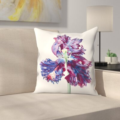 Parrot Tulip 4 Throw Pillow Size: 16 x 16