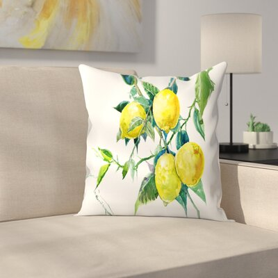Lemons Throw Pillow Size: 16 x 16