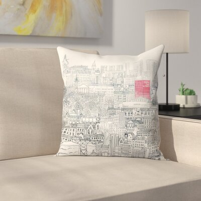 People Make Glasgow Throw Pillow Size: 18 x 18