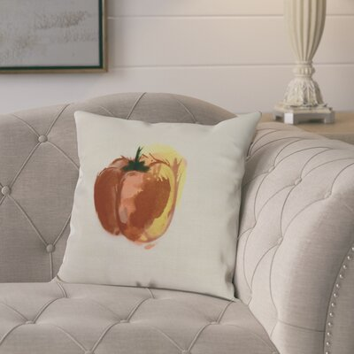 Laymon Pepper Throw Pillow Color: Rust, Size: 26 x 26