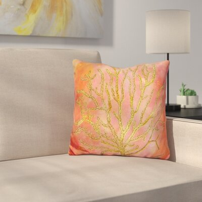 Coral Throw Pillow Color: Beige
