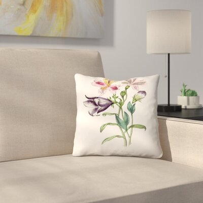 American Flora Purple Headed Garlic Throw Pillow Size: 14 x 14