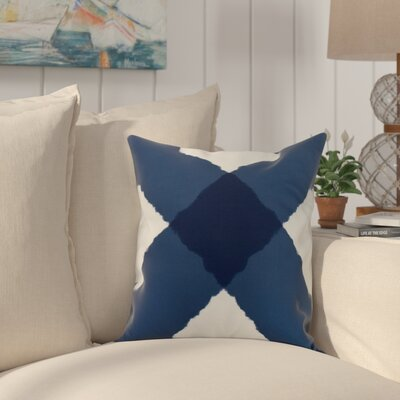 Harriet X Mark Throw Pillow Color: Navy, Size: 18 x 18