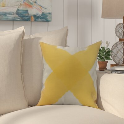 Harriet X Mark Throw Pillow Color: Yellow, Size: 26 x 26