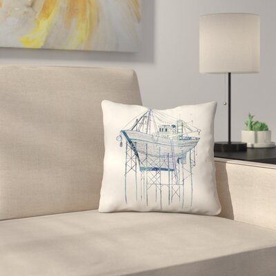 Dry Dock 1 Throw Pillow Size: 16 x 16