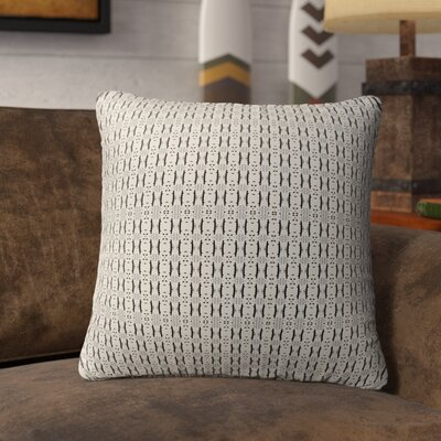 Liang Indoor/Outdoor Throw Pillow Color: Black/Tan, Size: 18 H x 18 W