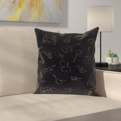 Heavens Music Throw Pillow Size: 16