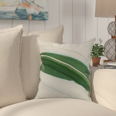 Harriet Boat Throw Pillow Color: Green, Size: 18