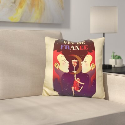 Vin De France Throw Pillow