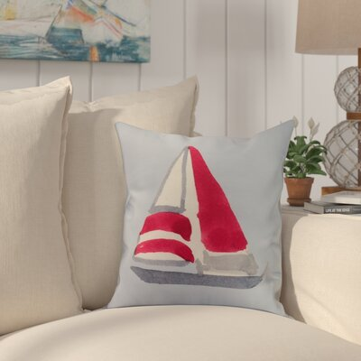 Harriet Sail Away Throw Pillow Color: Ivory, Size: 16 x 16