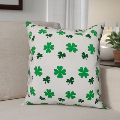 Benites Shamrock Pattern Throw Pillow