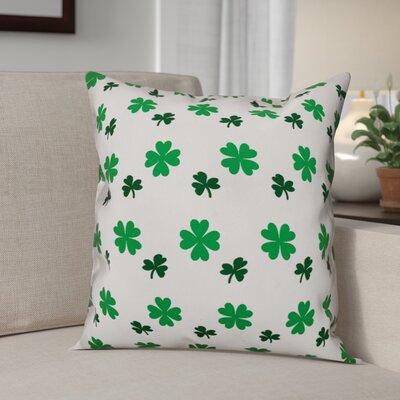 Benites Shamrock Pattern Throw Pillow