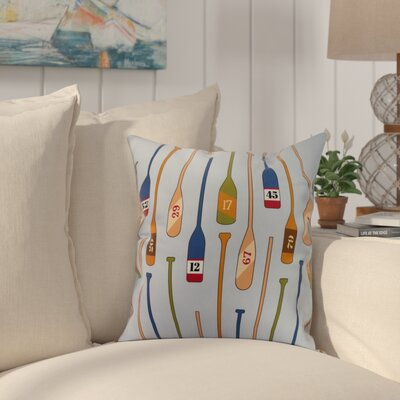 Bryson Oar Numbers Throw Pillow Color: Blue, Size: 18 x 18