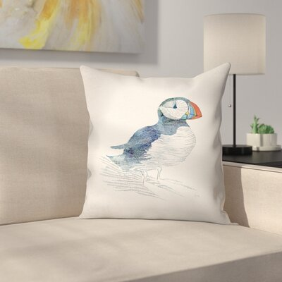 Puffin Throw Pillow Size: 18 x 18