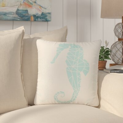 Almeida Geometric Seahorse Throw Pillow