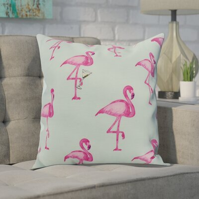 Carmack Print Throw Pillow Color: Aqua, Size: 18 x 18