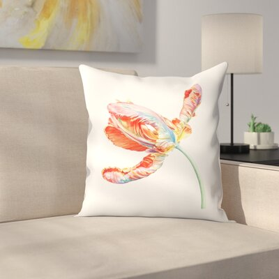 Parrot Tulip Throw Pillow Size: 16 x 16