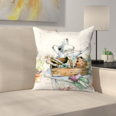 Garden Throw Pillow Size: 20 x 20