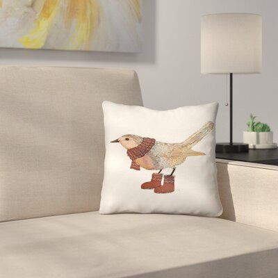 Robin Throw Pillow Size: 16 x 16