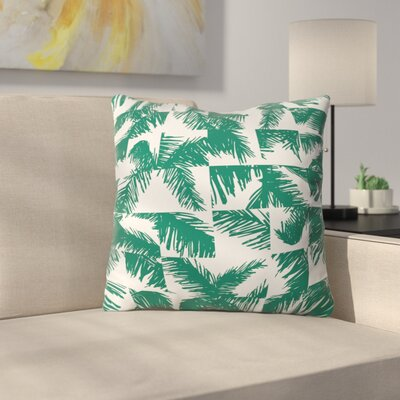 The Old Art Studio Palm Leaf Pattern Throw Pillow Size: 16 x 16