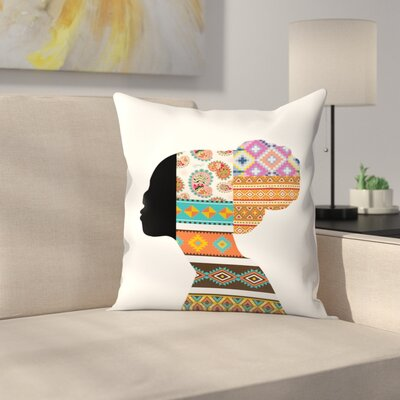 Ethnic Woman Throw Pillow Size: 16 x 16