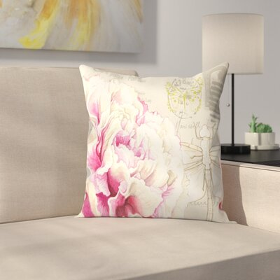Carnation Throw Pillow Size: 18 x 18