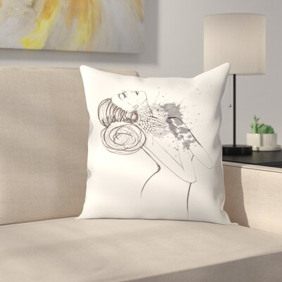Dying To Be Fabulous Throw Pillow Size: 18 x 18