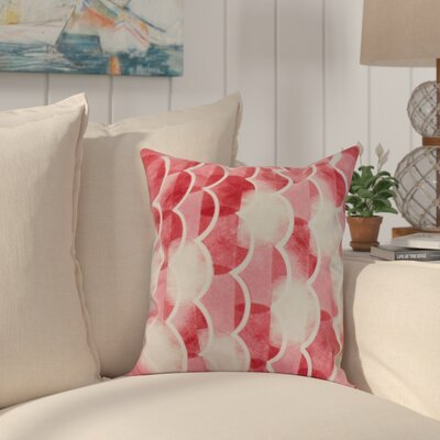 Harriet Throw Pillow Color: Red, Size: 16 x 16