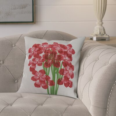 Chavis Throw Pillow Color: Red, Size: 16 x 16