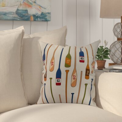Bryson Oar Numbers Throw Pillow Color: Ivory, Size: 16 x 16
