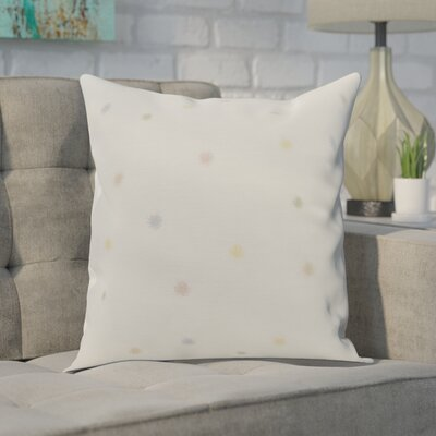 Carmanor Dots Pillow Color: Pale Pink, Size: 26 x 26