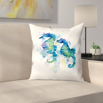 Seahorses Throw Pillow Size: 18 x 18