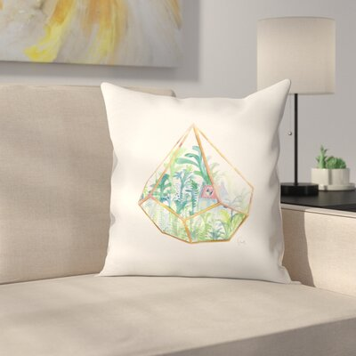 Terrarium Throw Pillow Size: 18 x 18